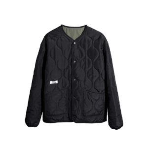[더블에이씨] CELLULE Reversible Quilting Jacket-black & khaki