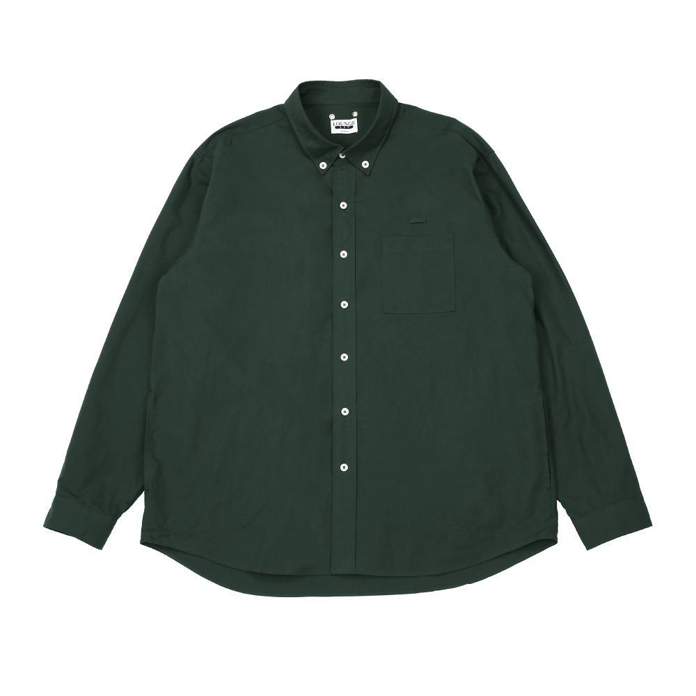 [라운지 에이피티] Dumbo Pocket Wide Shirt_DeepGreen