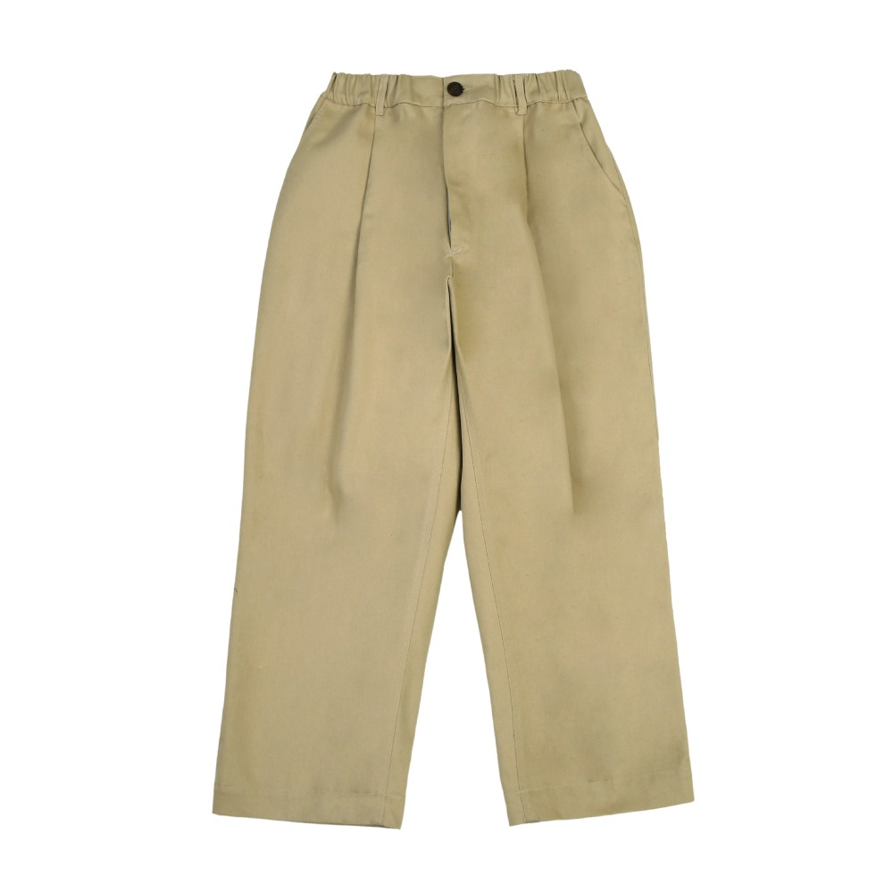 [라운지 에이피티] Deep One-Tuck Wide Chino Pants_Beige