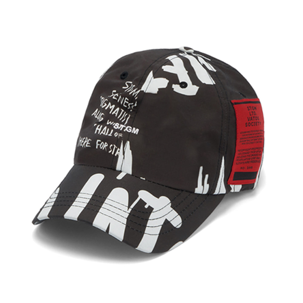 [스티그마]20 GRAFFITI BASEBALL CAP - BLACK