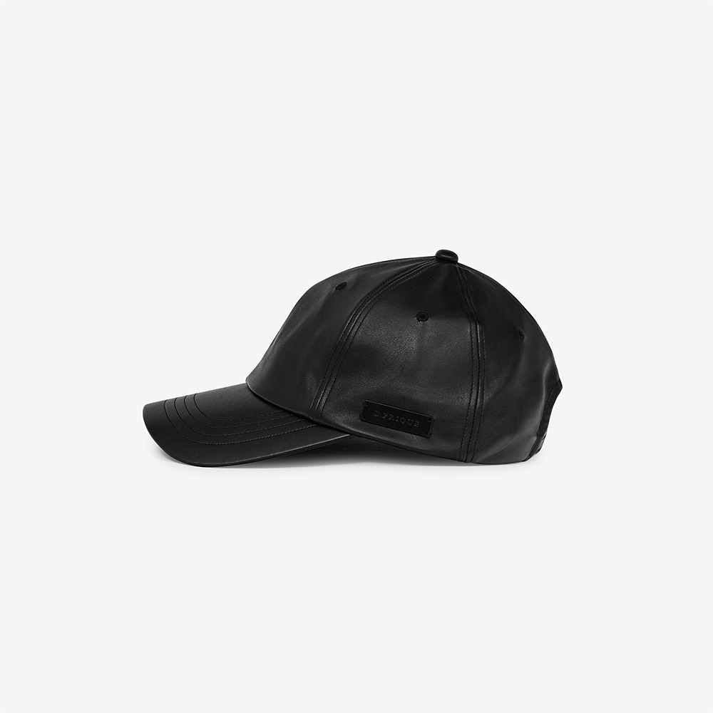 [디프리크] Eco-Leather Cap - Black