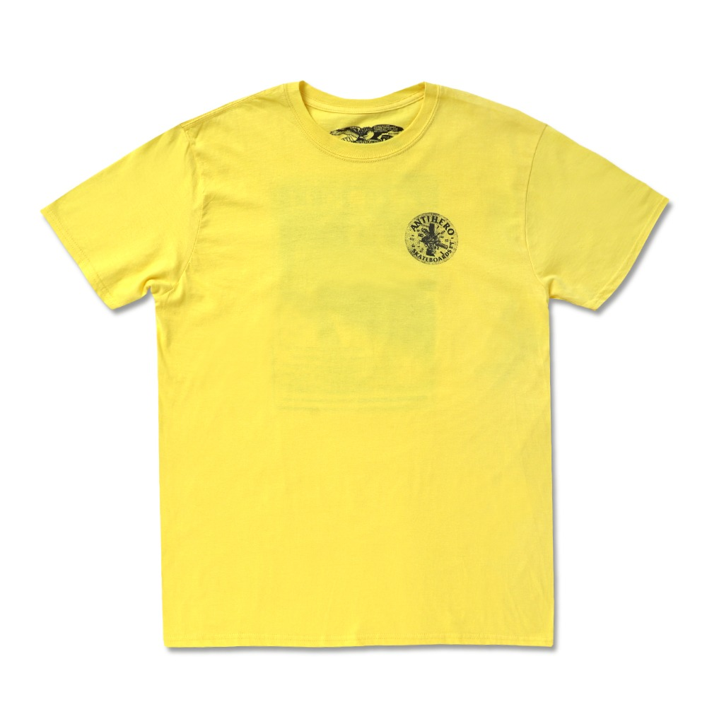[안티히어로] FREEFORM S/S T-Shirt - YELLOW / BLACK Prints 51020374