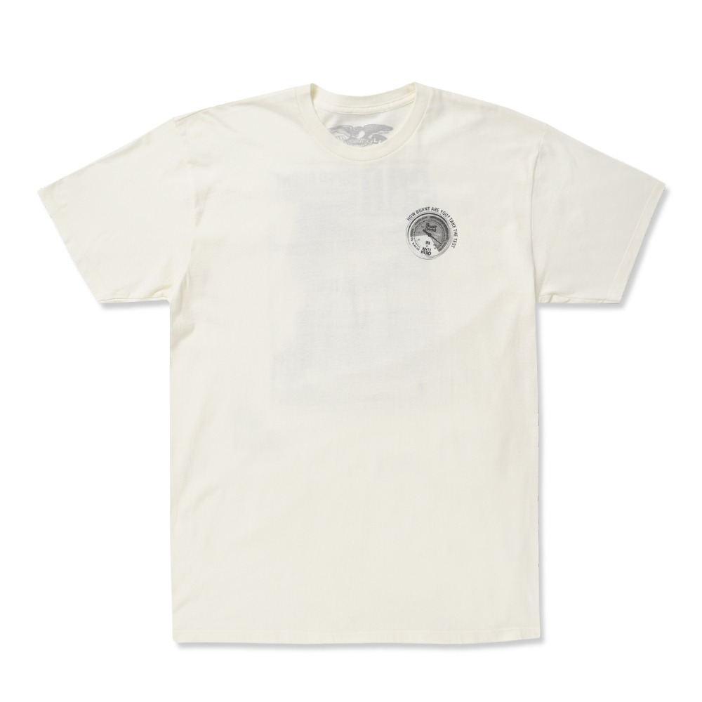 [안티히어로] SUPERBURN S/S T-Shirt - CREME / BLACK Prints 51020375