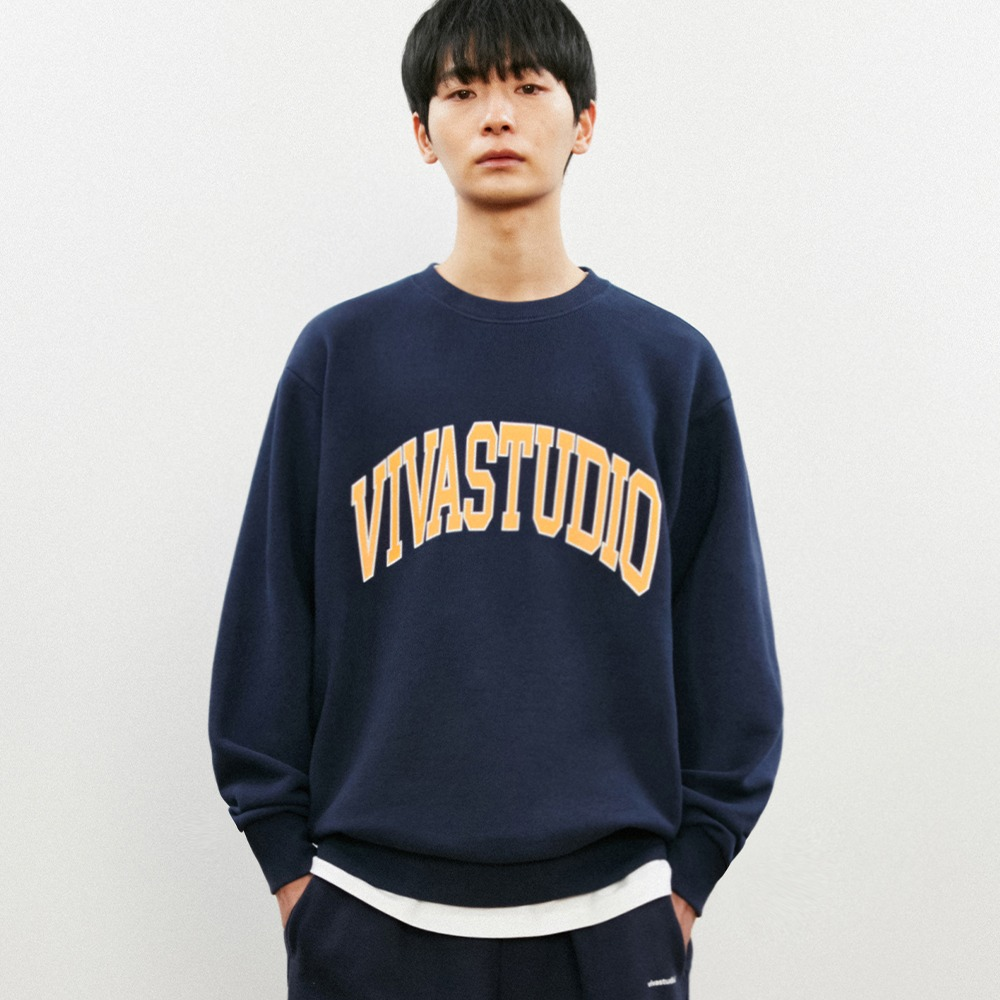 [비바스튜디오] COLLEGE LOGO CREWNEC KS - NAVY