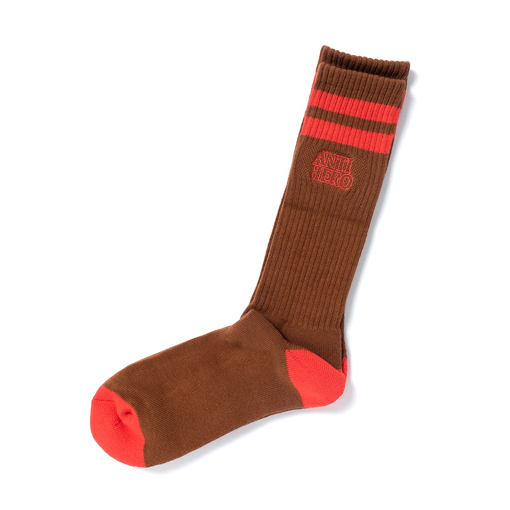 [안티히어로] BLACK HERO OUTLINE SOCK - BROWN/RED 57020034H00