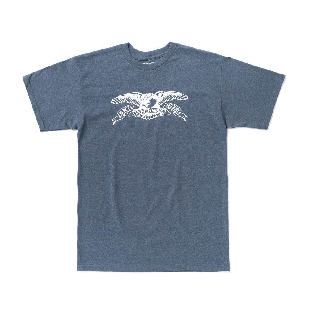 [안티히어로] BASIC EAGLE S/S T-Shirt - NAVY HEATHER/WHITE 51020080AV