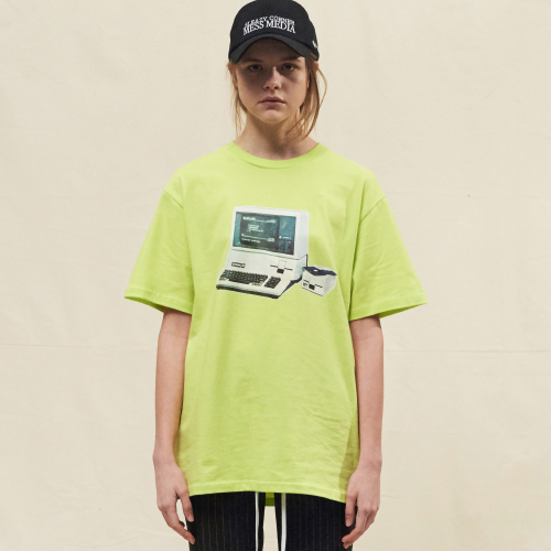 [20%할인][SLEAZY CORNER] PROGRAM HALF T SHIRT-YELLOW GREEN