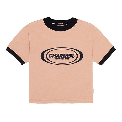 [CHARM'S] Circle Logo Crop T_BE