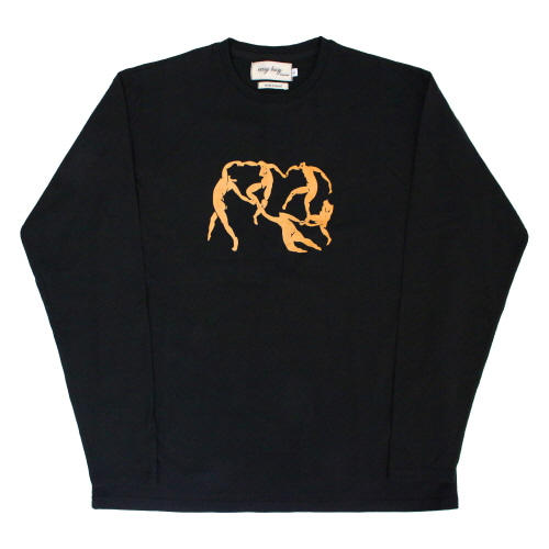 [EASY BUSY] Henri Matisse Longsleeve T-Shirts 3 - Black