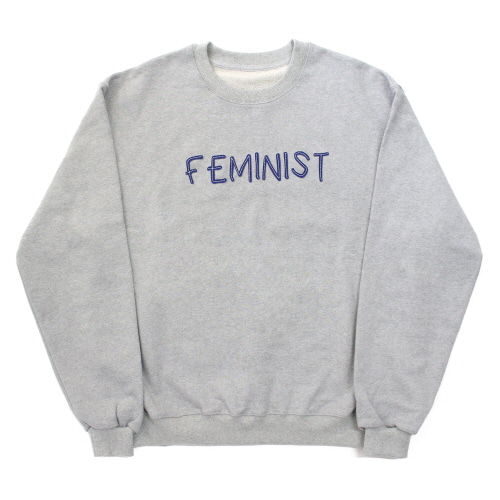 [EASY BUSY] FAMINIST' Sweatshirts - Grey