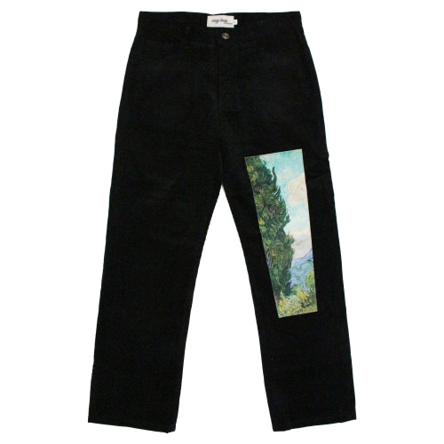 [EASY BUSY] Van Gogh Corduroy Pants - Black