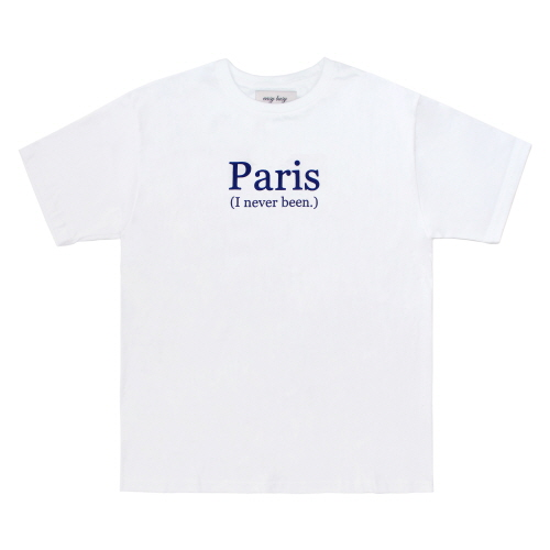 [EASY BUSY] PARIS' Printing T-Shirts - White