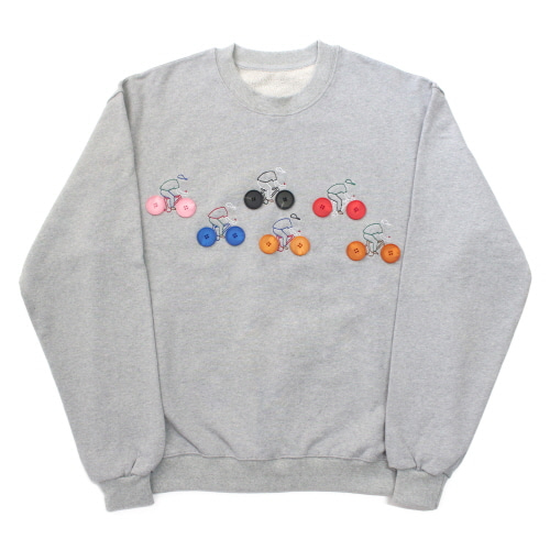 [EASY BUSY] Button Detail Sweatshirts - Grey