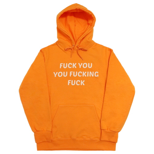 [EASY BUSY] 'FUCK YOU' Hoodie - Orange