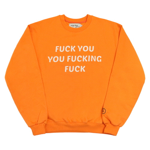 [EASY BUSY] 'FUCK YOU' Sweatshirts - Orange