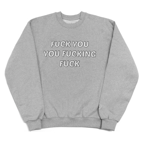[EASY BUSY] 'FUCK YOU' Sweatshirts - Grey
