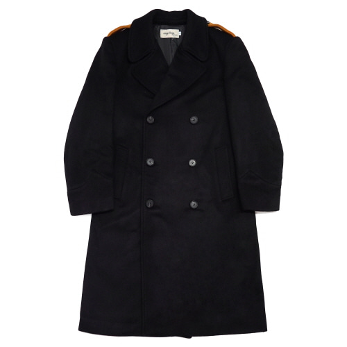 [EASY BUSY] Oversize Military Coat - Black