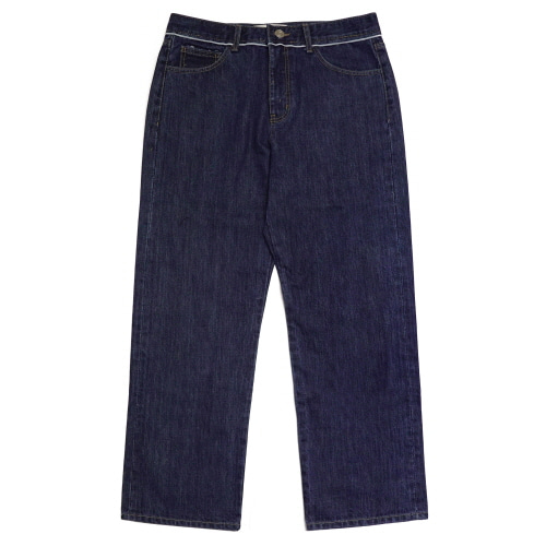 [EASY BUSY] Selvage Detail Jeans - Blue