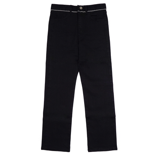 [EASY BUSY] Selvage Detail Jeans - Black