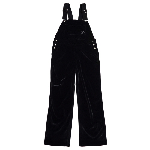 [EASY BUSY] Velvet Overall - Black