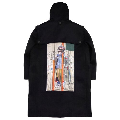 [EASY BUSY x JMB] JMB Back Painting Duffle Coat - Black