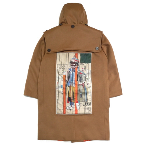 [EASY BUSY x JMB] JMB Back Painting Duffle Coat - Beige