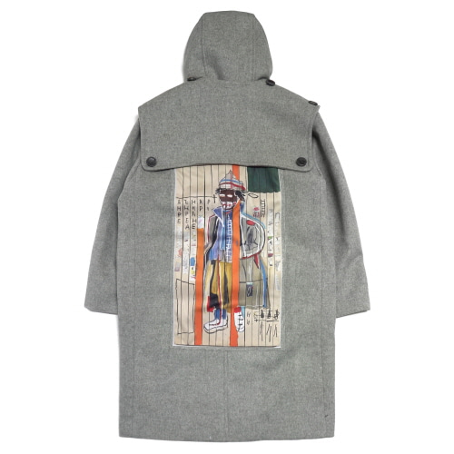 [EASY BUSY x JMB] JMB Back Painting Duffle Coat - Grey
