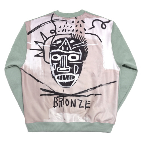 [EASY BUSY x JMB] JMB Back Painting Sweatshirts - Green