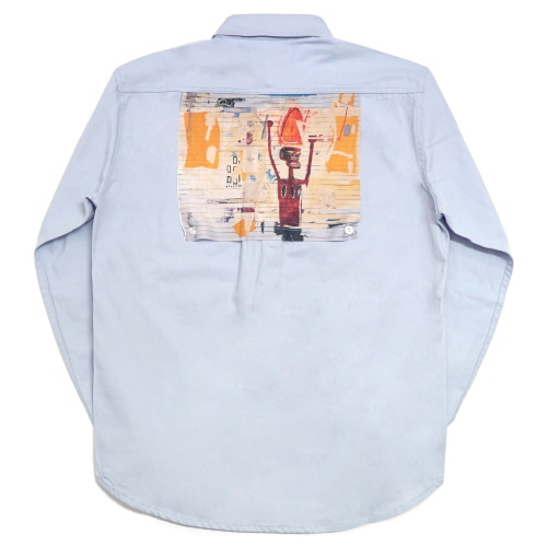 [EASY BUSY x JMB] JMB Back Painting Shirts - Sky Blue