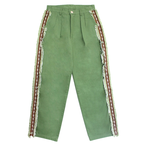 [EASY BUSY] Sidedetail Chino Pants - Green