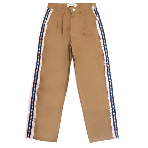 [EASY BUSY] Sidedetail Chino Pants - Brown