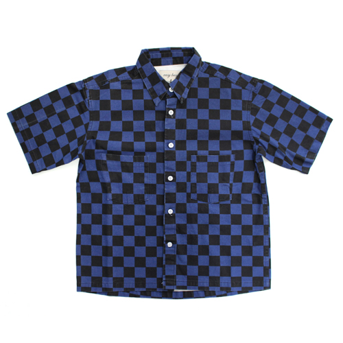 [EASY BUSY] Check Shirts - Black&Blue
