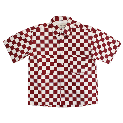 [EASY BUSY] Check Shirts - White&Red