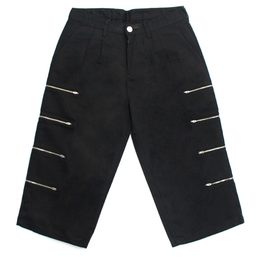 [EASY BUSY] Capri Zipper Detail Pants - Black