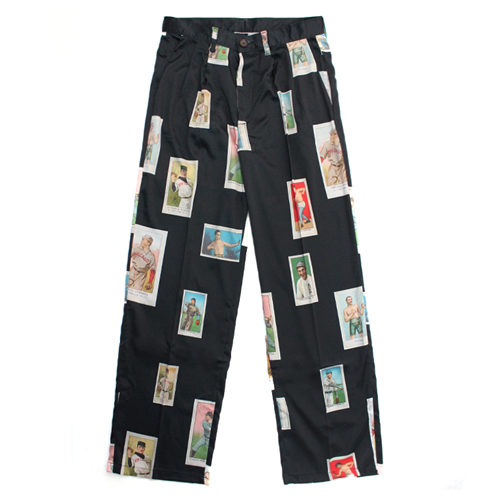 [EASY BUSY] Baseballcard Silk pants - Black