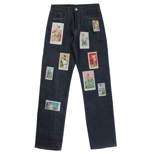 [EASY BUSY] Baseballcard Patchwork Jeans