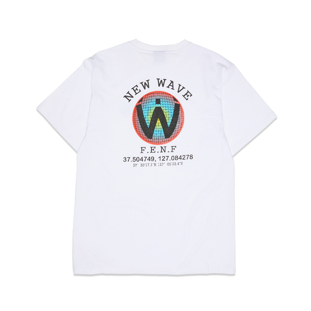 [Feel Enuff] DIGITAL LOGO T-SHIRTS - WHITE