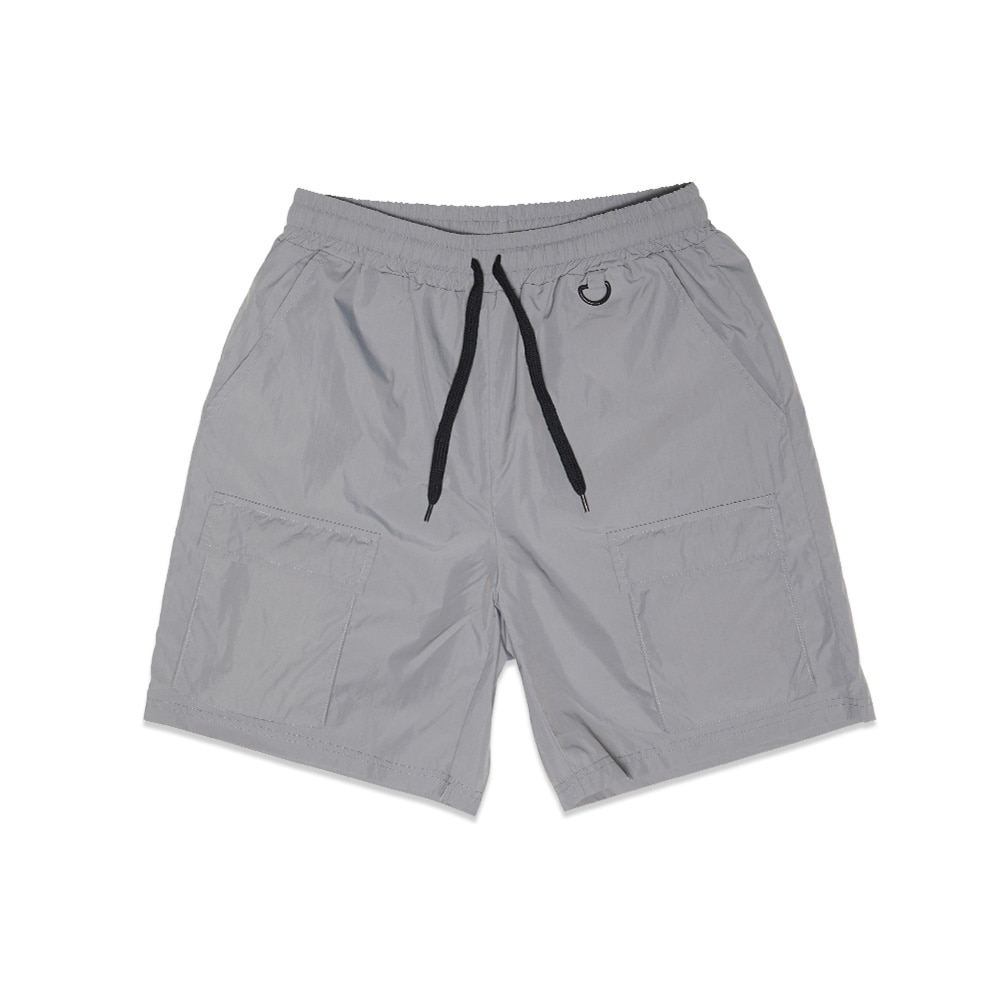 [Feel Enuff] NW NYLON POCKET SHORTS - GREY