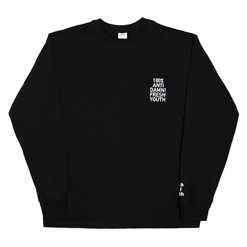 [Fresh anti youth] Anti Damn-Long Sleeve - Black