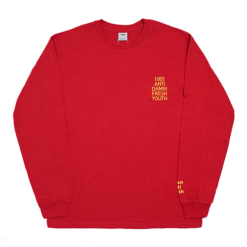 [Fresh anti youth] Anti Damn-Long Sleeve - Red