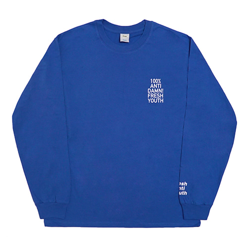 [Fresh anti youth] Anti Damn-Long Sleeve - Blue