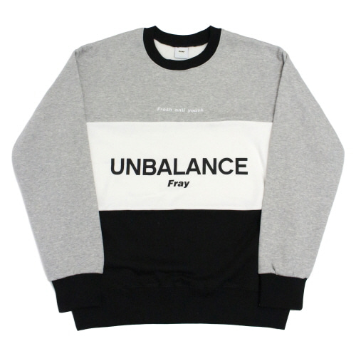 [Fresh anti youth] Unbalance-Crewneck Sweater - Black