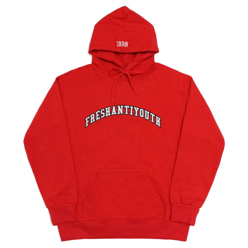 [Fresh anti youth] 1998 College Hood Sweater - Red