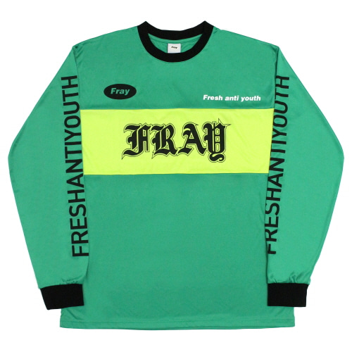 [Fresh anti youth] Mortor Cross-Jersey Top - Green