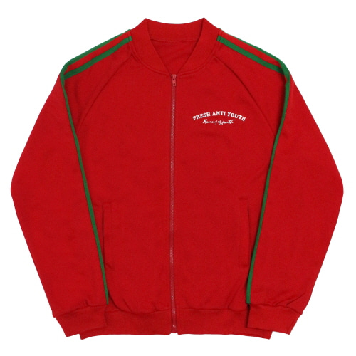 [Fresh anti youth] Bommer Jersey-Jacket - Red