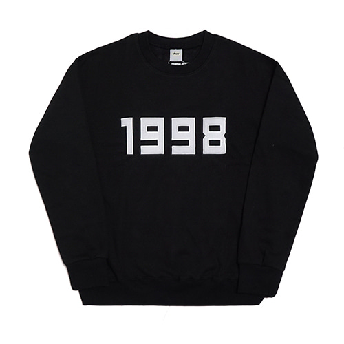 [Fresh anti youth] 1998-Crewneck Sweater - Black