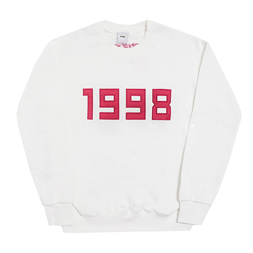 [Fresh anti youth] 1998-Crewneck Sweater - White