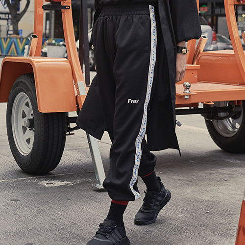 [Fresh anti youth] Jersey Pants - Black