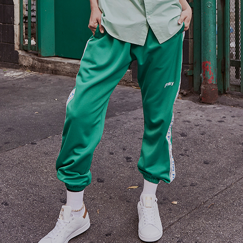 [Fresh anti youth] Jersey Pants - Green