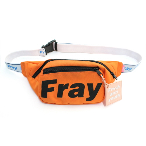 [Fresh anti youth] Logo Waist Bag - Orange
